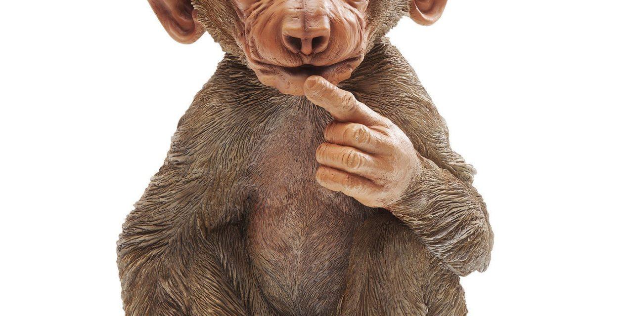 Dekoration Figur Monkey Baby Baboon