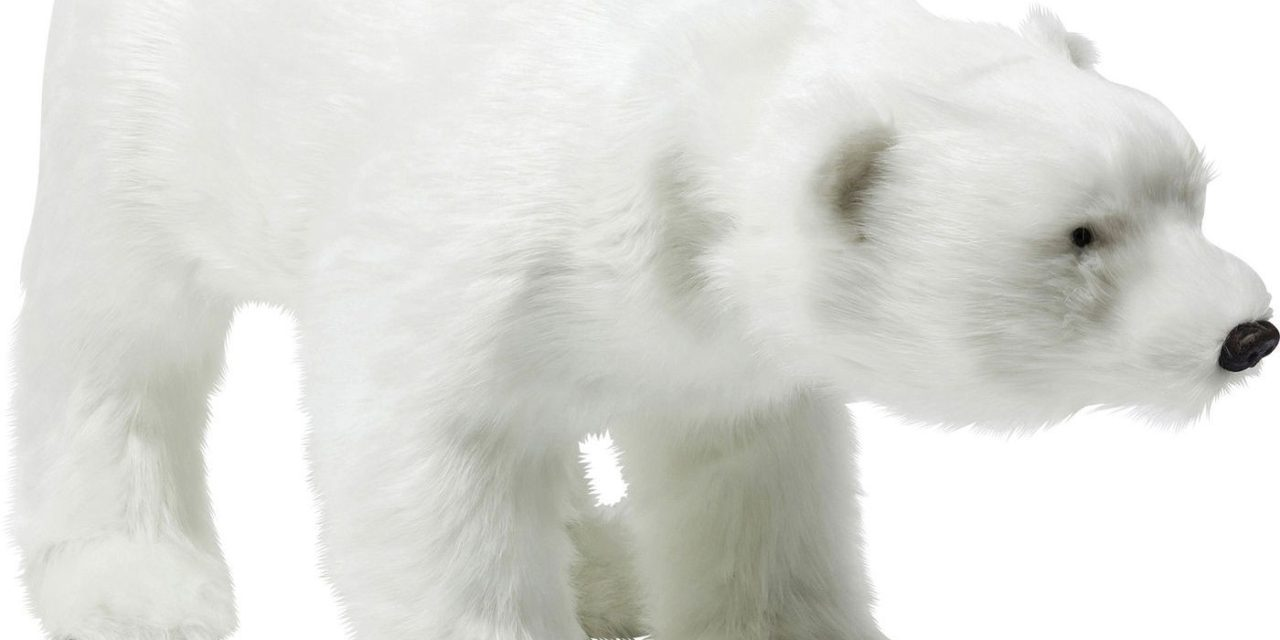 Kare Design dekorationsfigur moving sound baby polar bear i flot sten og polyester
