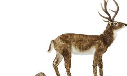 Dekoration Figur Moving Sound Deer Fur