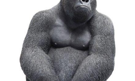 Dekoration Figur Monkey Gorilla Side Mellem