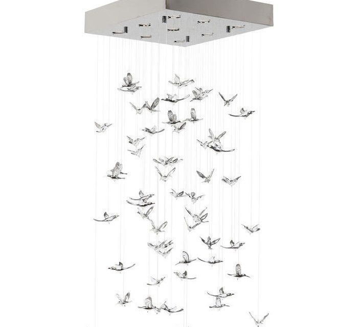 Loftslampe Flying Birds Krom