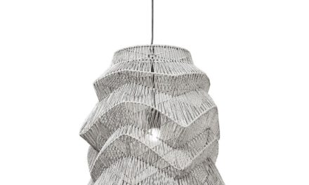 Loftslampe Waves Sort Ø48 cm