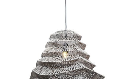 Loftslampe Waves Sort Ø56 cm