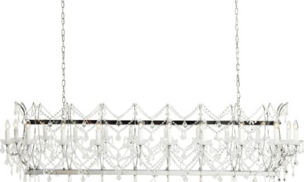 Loftslampe Chateau Crystal Chrome Deluxe