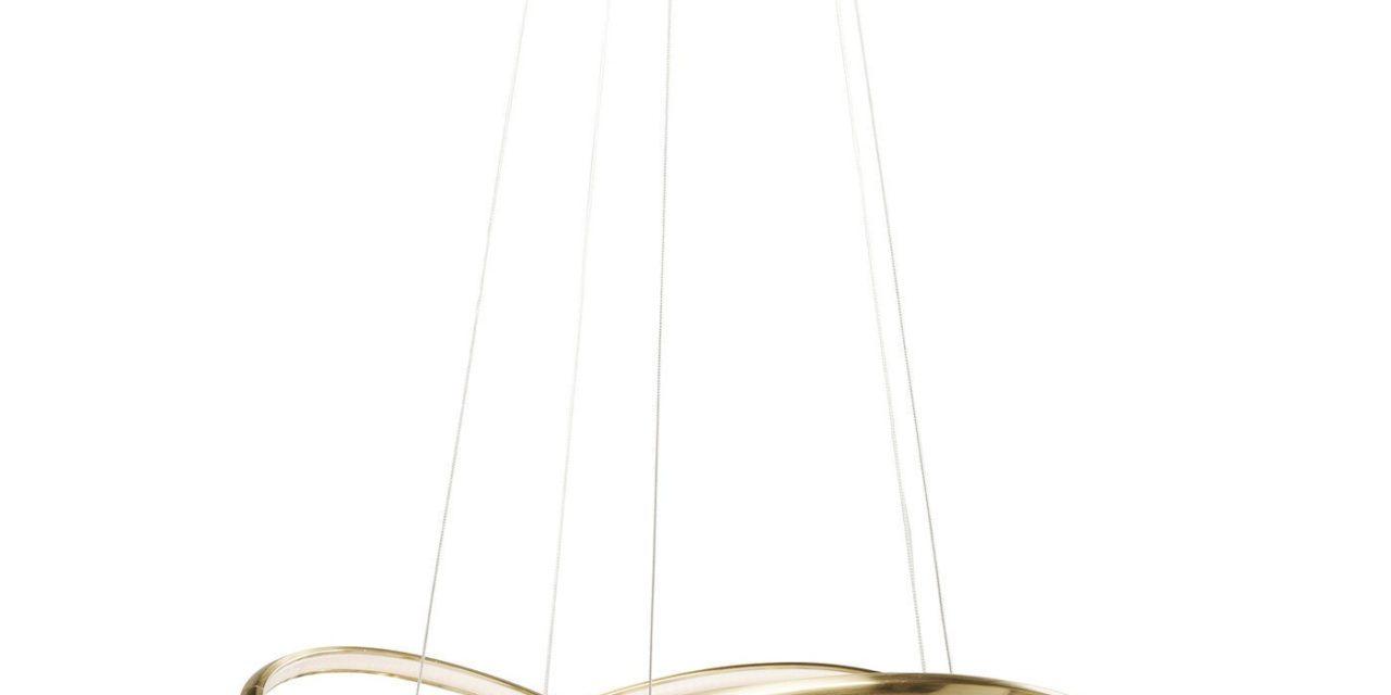 Loftlampe Saturn LED Guld Stor
