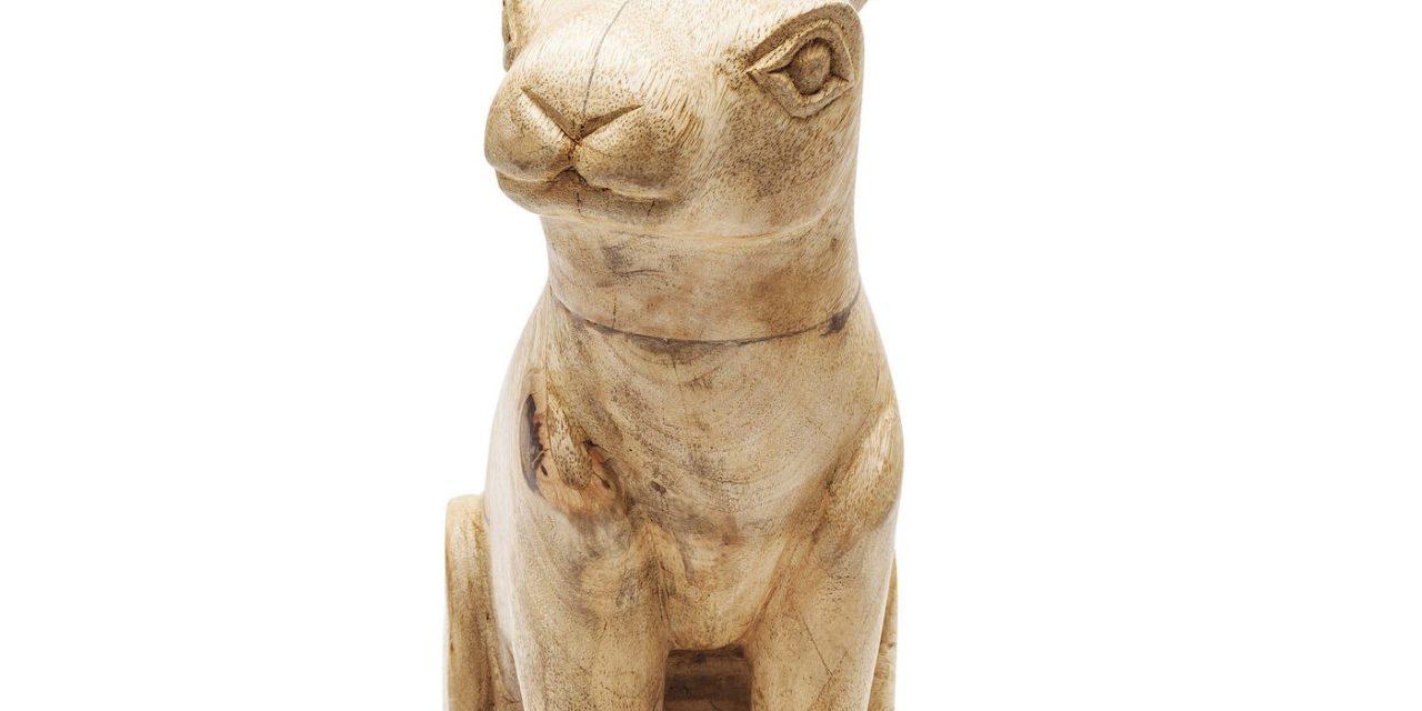 Dekoration Figur Bunny Wood