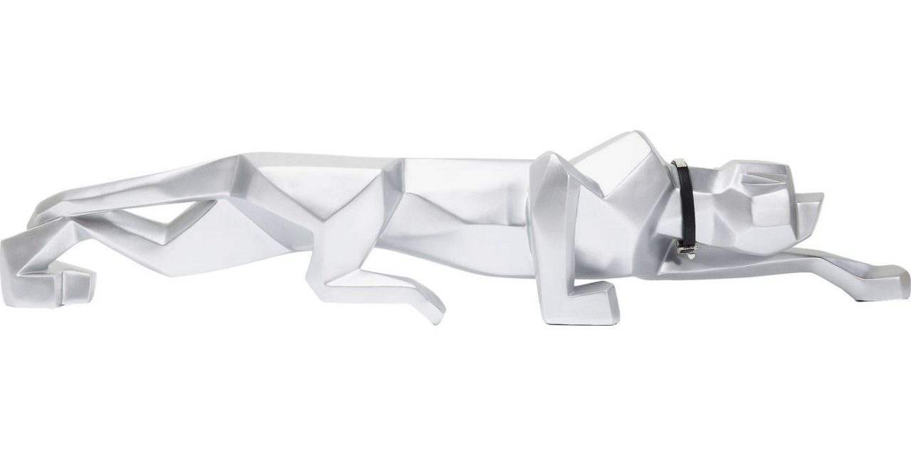 Dekoration Figur Silver Cat 185
