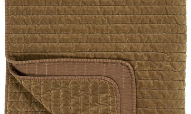 IB LAURSEN Quilt sengetæppe – grønt velour