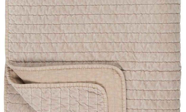 IB LAURSEN Quilt sengetæppe – beige velour
