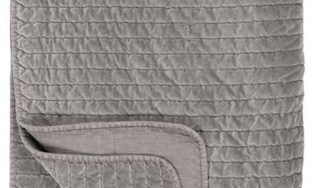IB LAURSEN Quilt sengetæppe – grå velour