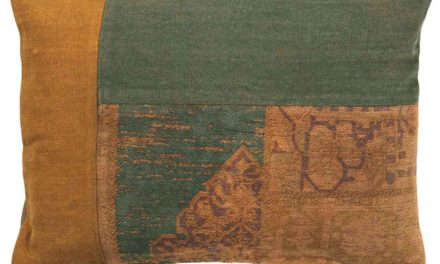 IB LAURSEN Pudebetræk – rustik brun og grøn
