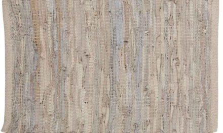 IB LAURSEN Dækkeserviet – lysegråt læder