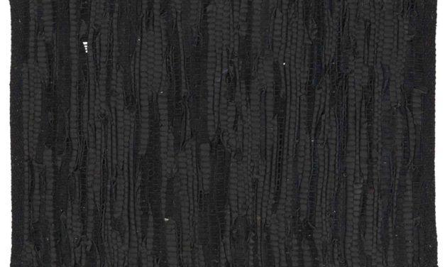 IB LAURSEN Dækkeserviet – sort læder