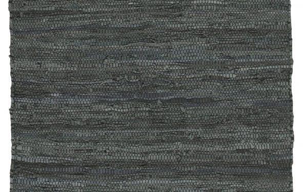 IB LAURSEN Mørkegrå gulvløber af læder