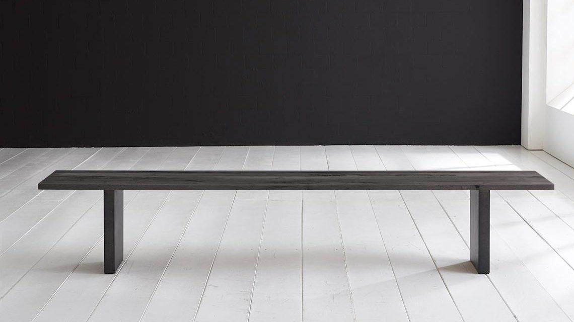 Concept 4 You Spisebordsbænk – T-Ben 200 x 40 cm 3 cm 07 = mocca black