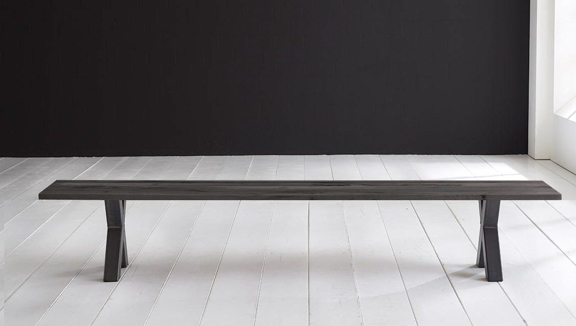 Concept 4 You Spisebordsbænk – Freja ben 260 x 40 cm 3 cm 07 = mocca black