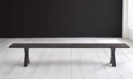 Concept 4 You Spisebordsbænk – Freja ben 240 x 40 cm 3 cm 07 = mocca black
