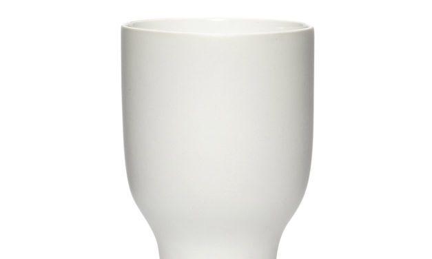 Hübsch Hvid large porcelæns krus i flot hvid porcelæn
