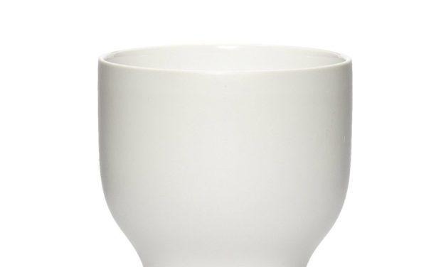 HÜBSCH Krus i porcelæn, hvid, small