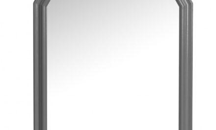 Minette vægspejl – grå (87×57)