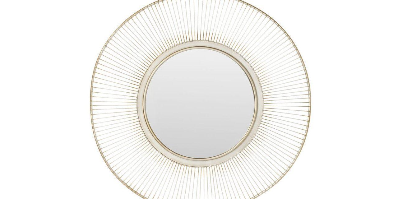 Spejl Sun Storm Antique Silver Ø 93 cm