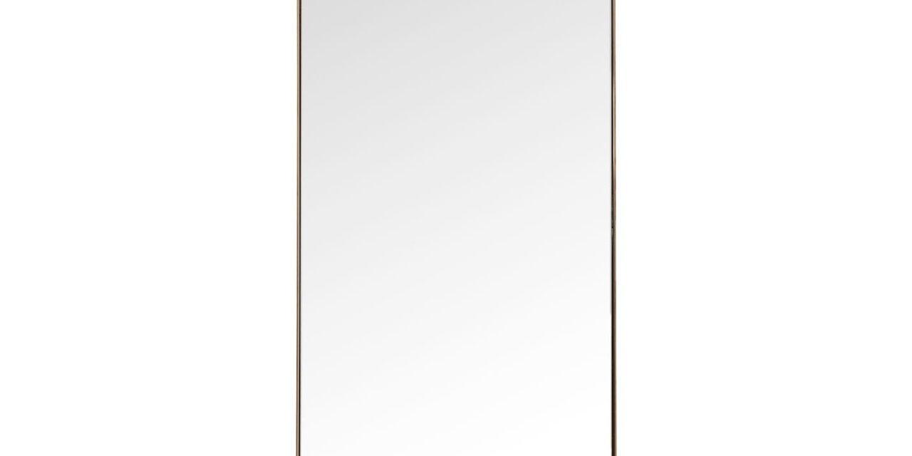 Spejl Curve Rectangular Kobber 200 x 70 cm