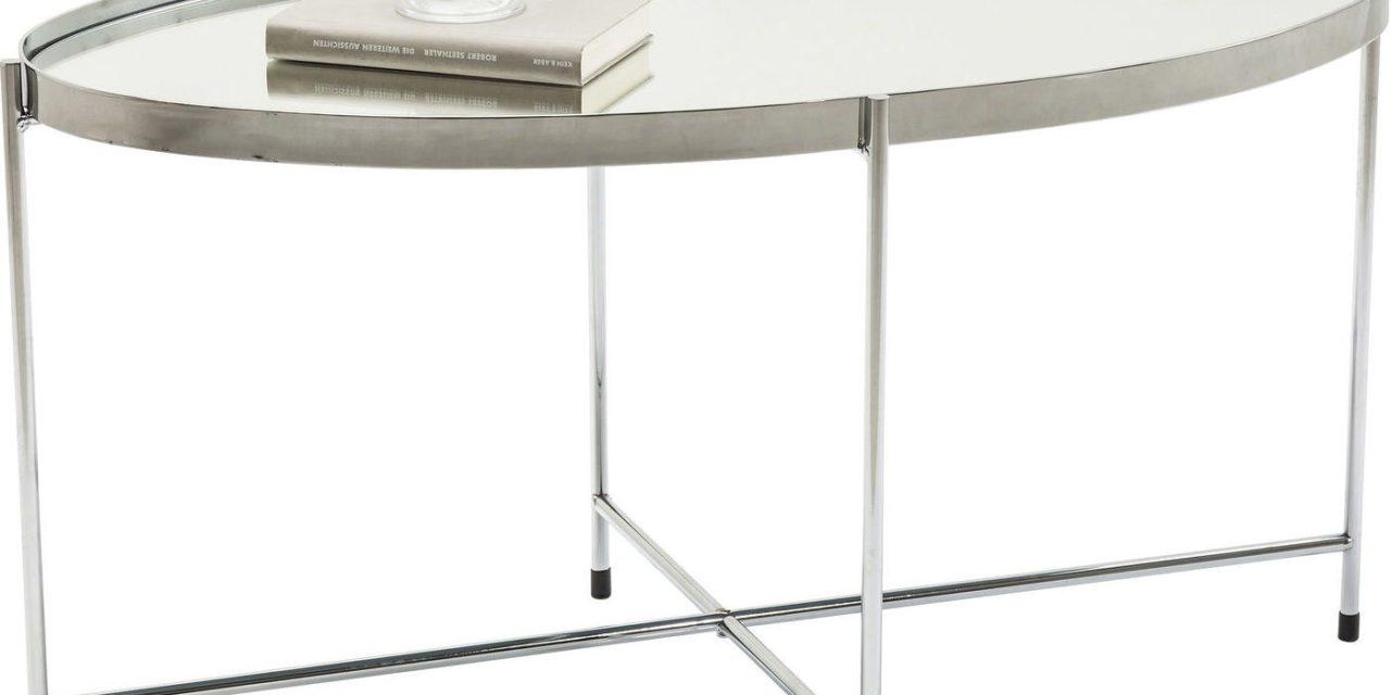 Sofabord Miami Oval Silver 83 x 40 cm