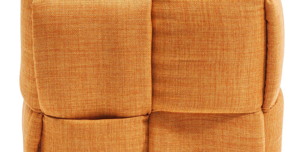 Puf Woven Orange