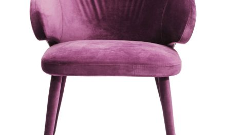 Stol med armlæn Purple Rain