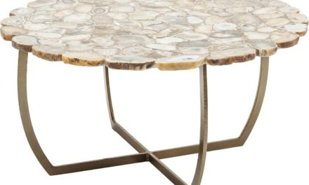 Sofabord Tesoro Beige Ø80 cm