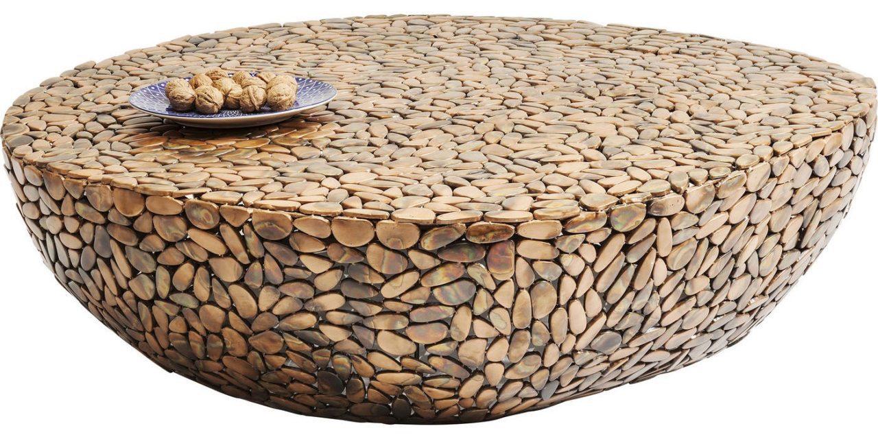 Sofabord Pebbles Deluxe Rusty 115 x 110 cm