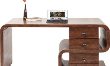 Skrivebord Soft Snake Valnød 150 x 70 cm