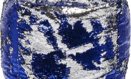 Puf Disco Queen Blå-Sølv 45 x 45 cm