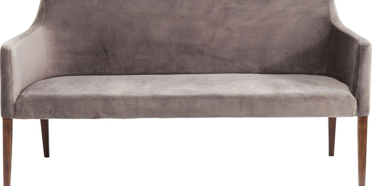 Stofbetrukket Sofabænk Mode Velvet Grå