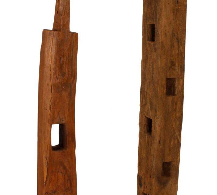 Wood træpæl på fod,160-200 cm