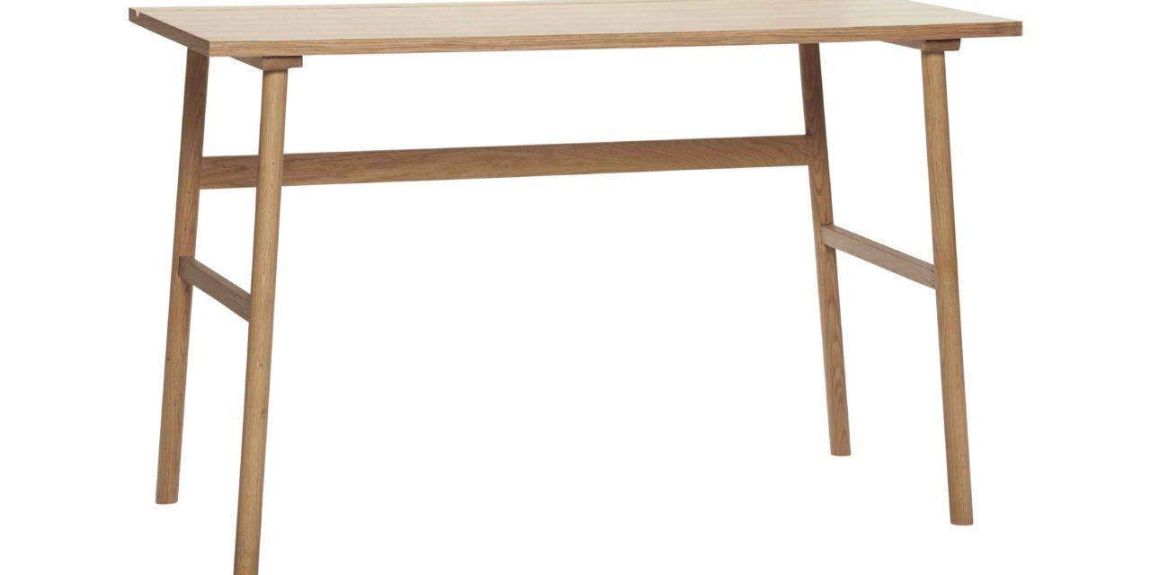 HÜBSCH skrivebord – egetræsfinér