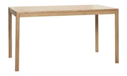 HÜBSCH spisebord – egetræsfinér (140×80)