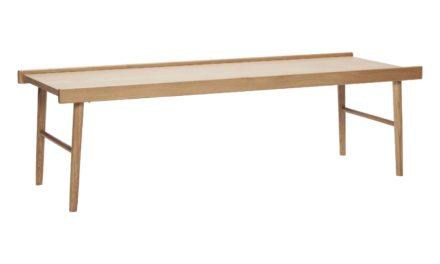 HÜBSCH sofabord – egetræsfinér m. kant