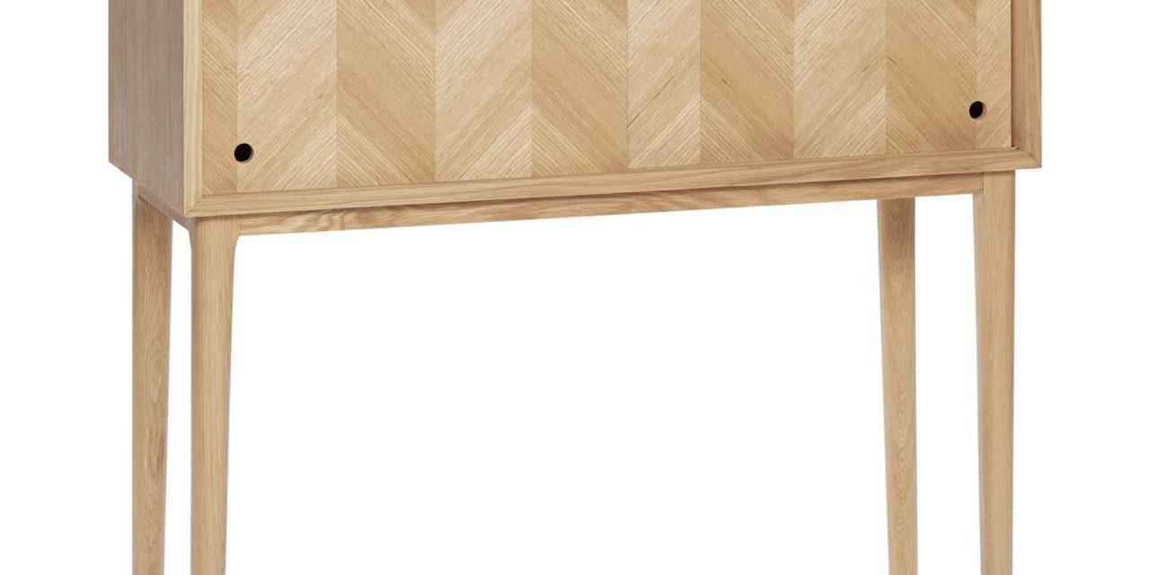 HÜBSCH kommode – egetræsfinér m. 2 låger