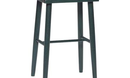 HÜBSCH barstol – grøn hvideg, rektangulær