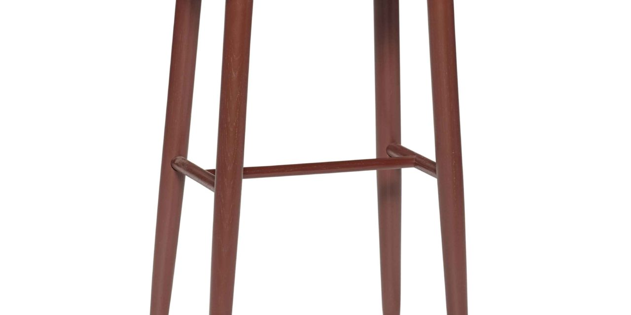 HÜBSCH barstol – rød hvideg, rektangulær