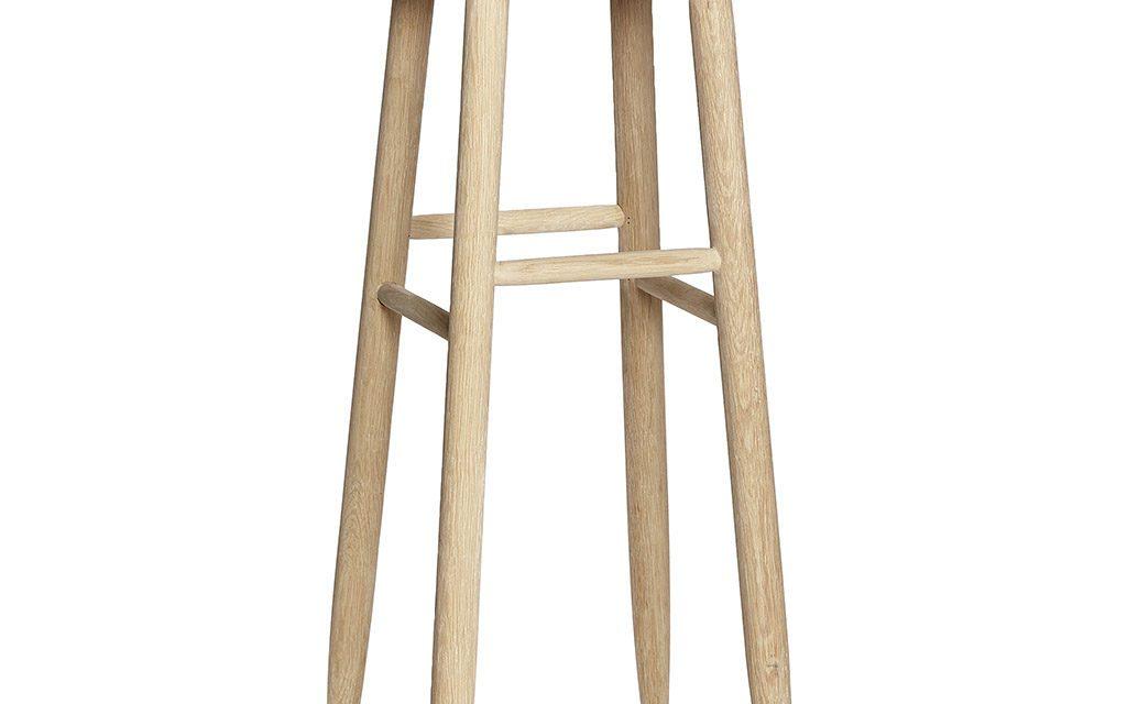 HÜBSCH Barstol af egetræ