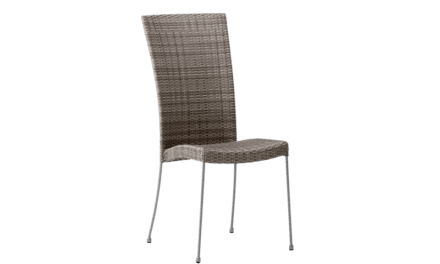 SIKA DESIGN Saturn stol u/armlæn – Teak grå