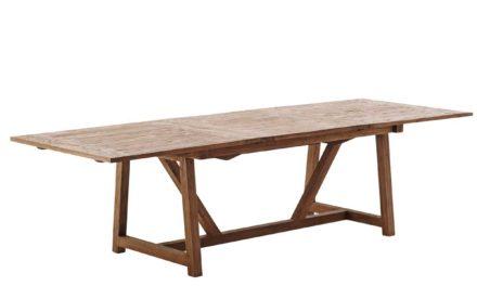 SIKA DESIGN Lucas spisebord m. udtræk, inkl. tillægsplade
