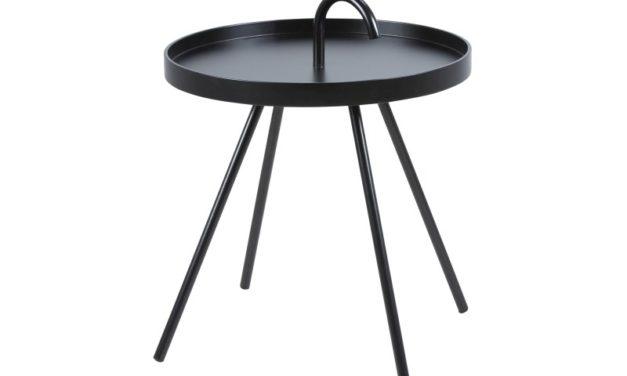 Lækkert Mico bakkebord i sortlakeret træ og metal fra Actona