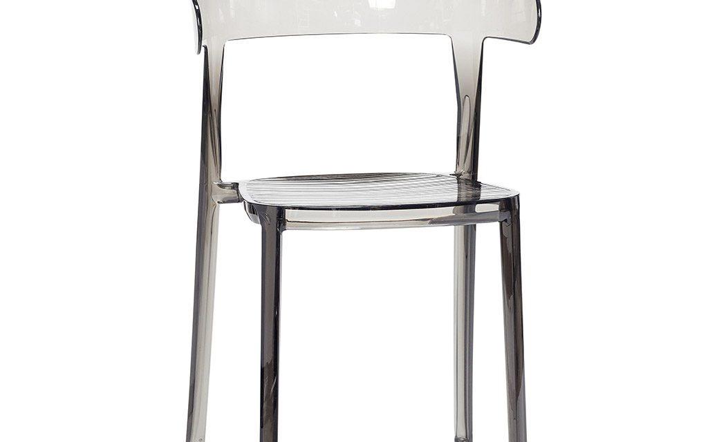 HÜBSCH Stol, plastik, grå