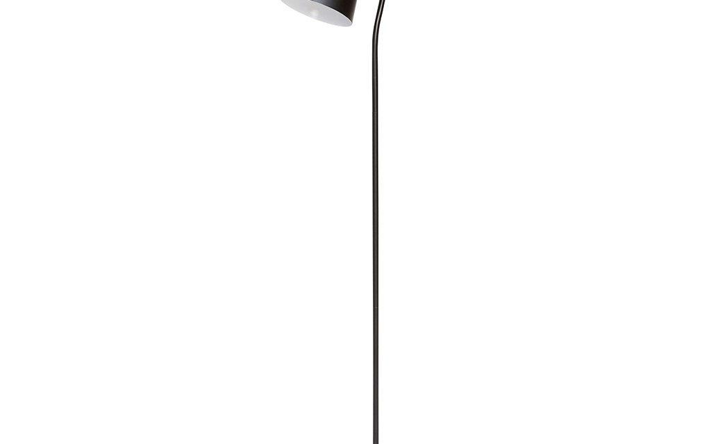HÜBSCH Gulvlampe, metal, sort/messing