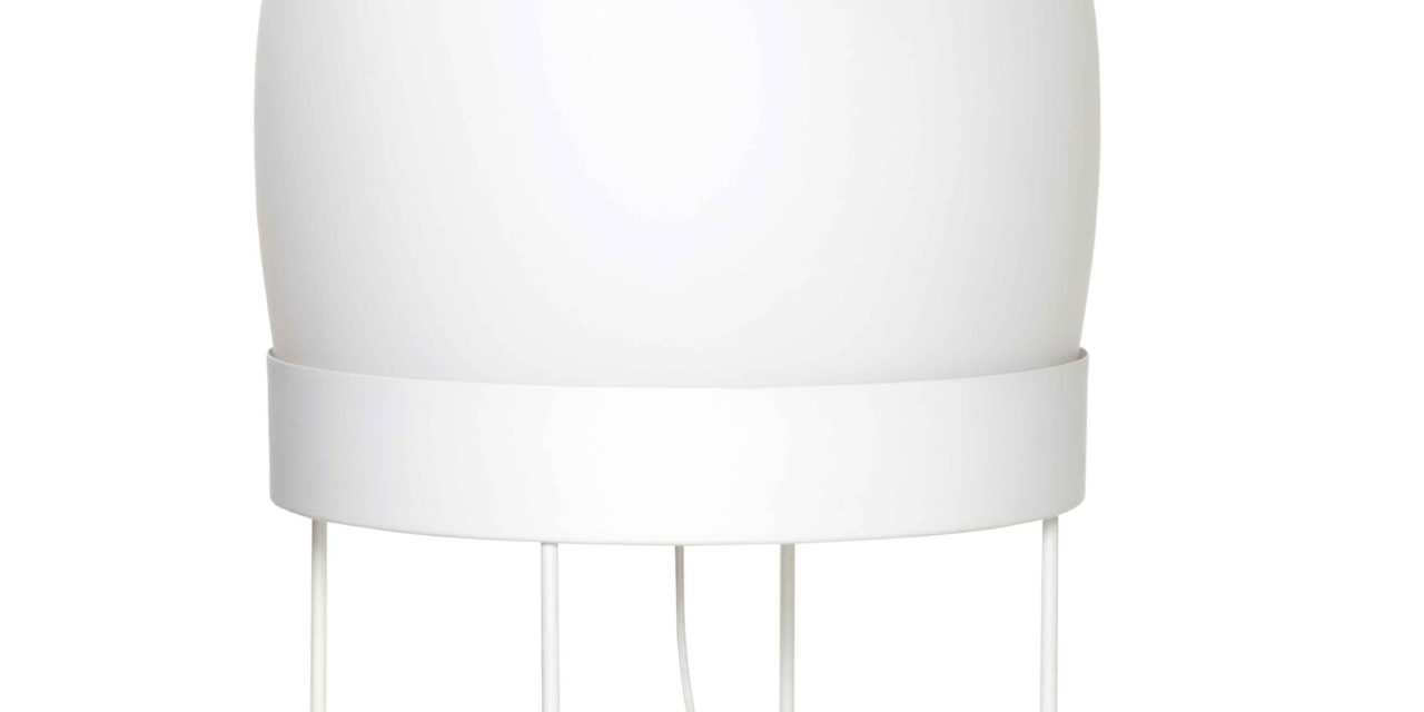 HÜBSCH gulvlampe – hvid metal/glas
