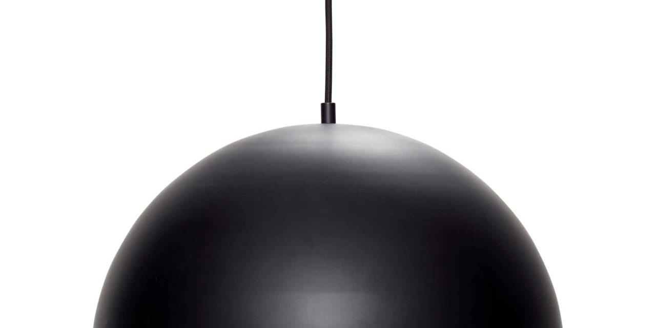 HÜBSCH loftlampe – sort/messing metal