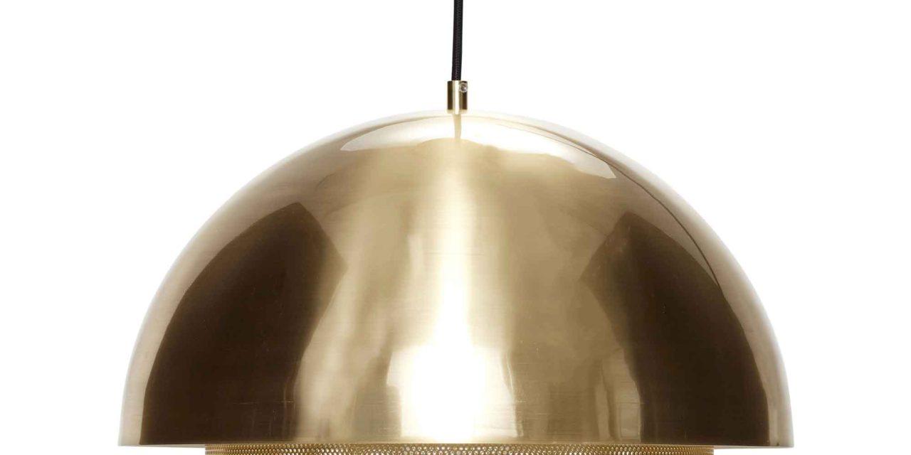 HÜBSCH loftlampe – messing, metal